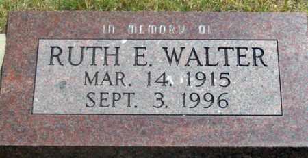 WALTER, RUTH E. - Dundy County, Nebraska | RUTH E. WALTER - Nebraska Gravestone Photos