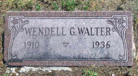 WALTER, WENDELL GEORGE - Dundy County, Nebraska   WENDELL GEORGE WALTER - Nebraska Gravestone Photos