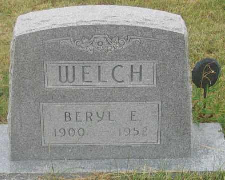 WELCH, BERYL E. - Dundy County, Nebraska | BERYL E. WELCH - Nebraska Gravestone Photos