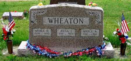 WHEATON, ANNA L. - Dundy County, Nebraska   ANNA L. WHEATON - Nebraska Gravestone Photos