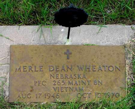 WHEATON, MERLE DEAN - Dundy County, Nebraska | MERLE DEAN WHEATON - Nebraska Gravestone Photos