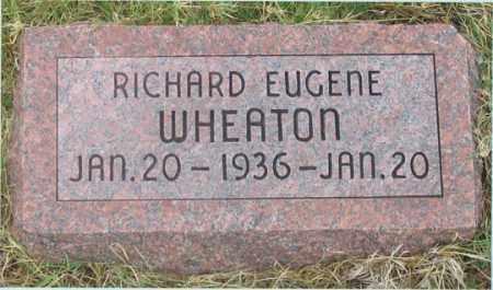 WHEATON, RICHARD EUGENE - Dundy County, Nebraska   RICHARD EUGENE WHEATON - Nebraska Gravestone Photos