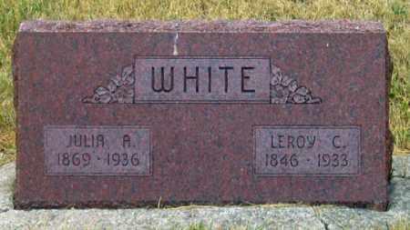 WHITE, LEROY C. - Dundy County, Nebraska | LEROY C. WHITE - Nebraska Gravestone Photos