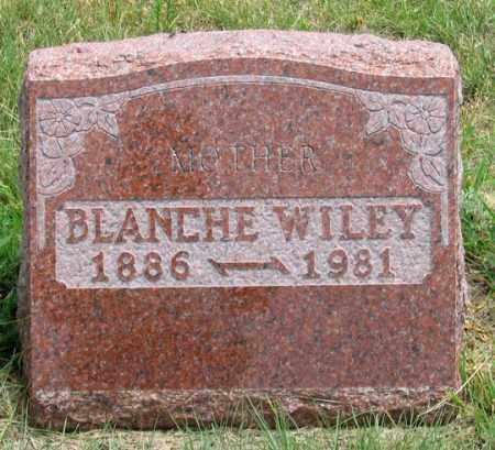 WILEY, BLANCHE E. - Dundy County, Nebraska   BLANCHE E. WILEY - Nebraska Gravestone Photos