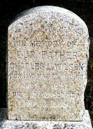 WILSON, CHARLES LOUIS - Dundy County, Nebraska | CHARLES LOUIS WILSON - Nebraska Gravestone Photos