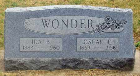 WONDER, IDA B. - Dundy County, Nebraska | IDA B. WONDER - Nebraska Gravestone Photos