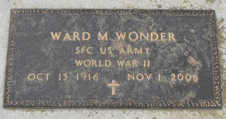 WONDER, WARD M. - Dundy County, Nebraska | WARD M. WONDER - Nebraska Gravestone Photos