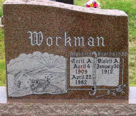 SAMSON WORKMAN, VIOLETT A. - Dundy County, Nebraska | VIOLETT A. SAMSON WORKMAN - Nebraska Gravestone Photos