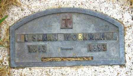 WORKMAN, SARAH E. - Dundy County, Nebraska | SARAH E. WORKMAN - Nebraska Gravestone Photos
