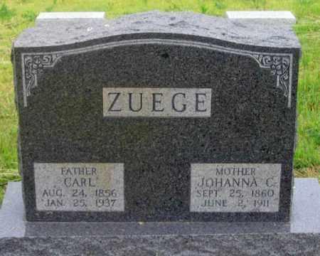WILHEMINE ZUEGE, JOHANNA C. - Dundy County, Nebraska | JOHANNA C. WILHEMINE ZUEGE - Nebraska Gravestone Photos