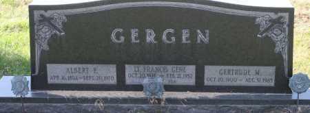 GERGEN, LT. FRANCIS GENE - Fillmore County, Nebraska   LT. FRANCIS GENE GERGEN - Nebraska Gravestone Photos