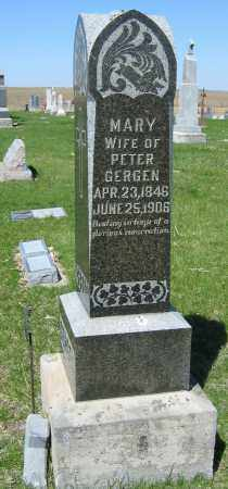 LORGE GERGEN, MARY - Fillmore County, Nebraska | MARY LORGE GERGEN - Nebraska Gravestone Photos
