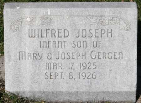 GERGEN, WILFRED JOSEPH - Fillmore County, Nebraska   WILFRED JOSEPH GERGEN - Nebraska Gravestone Photos