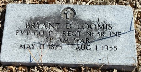 LOOMIS, BRYANT DAVID - Fillmore County, Nebraska | BRYANT DAVID LOOMIS - Nebraska Gravestone Photos