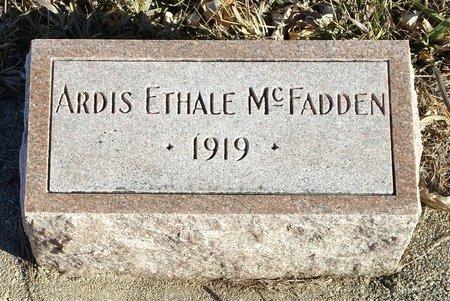 MCFADDEN, ARTIST ETHALE - Fillmore County, Nebraska | ARTIST ETHALE MCFADDEN - Nebraska Gravestone Photos