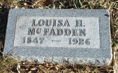 CHAPLIN MCFADDEN, LOUISA H - Fillmore County, Nebraska | LOUISA H CHAPLIN MCFADDEN - Nebraska Gravestone Photos