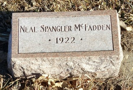 MCFADDEN, NEAL SPANGLER - Fillmore County, Nebraska | NEAL SPANGLER MCFADDEN - Nebraska Gravestone Photos