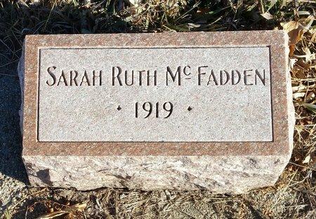 MCFADDEN, SARAH RUTH - Fillmore County, Nebraska   SARAH RUTH MCFADDEN - Nebraska Gravestone Photos