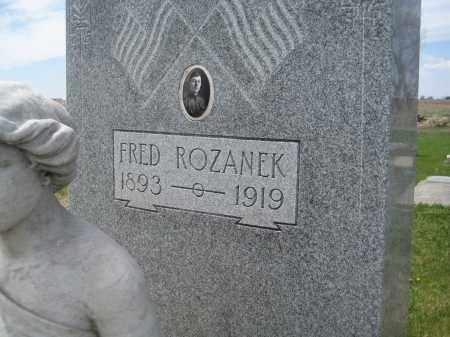 ROZANEK, FRED - Fillmore County, Nebraska   FRED ROZANEK - Nebraska Gravestone Photos