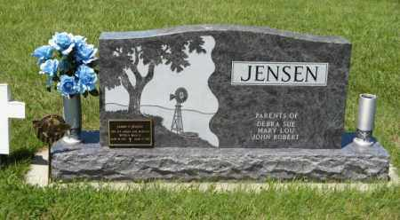 JENSEN, JAMES (BACK OF STONE) - Franklin County, Nebraska | JAMES (BACK OF STONE) JENSEN - Nebraska Gravestone Photos
