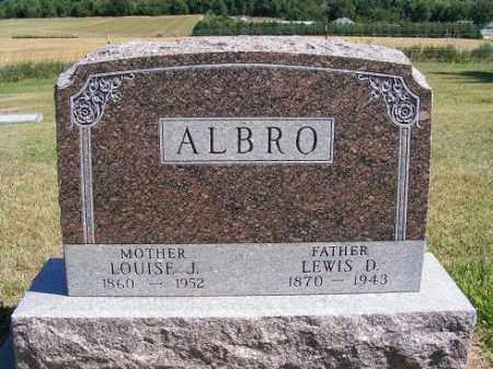 ALBRO, LEWIS D. - Frontier County, Nebraska   LEWIS D. ALBRO - Nebraska Gravestone Photos