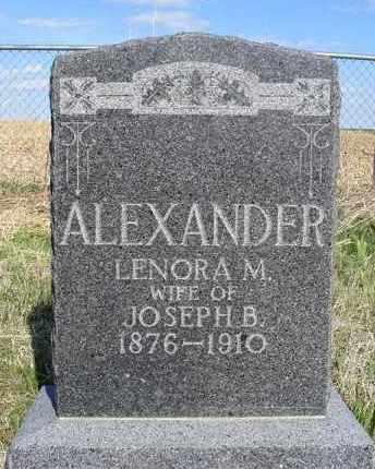 ALEXANDER, LENORA M. - Frontier County, Nebraska   LENORA M. ALEXANDER - Nebraska Gravestone Photos