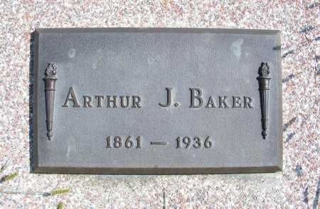 BAKER, ARTHUR J. - Frontier County, Nebraska | ARTHUR J. BAKER - Nebraska Gravestone Photos
