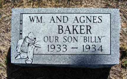 BAKER, BILLY - Frontier County, Nebraska | BILLY BAKER - Nebraska Gravestone Photos