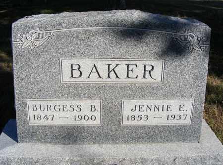BAKER, BURGESS B. - Frontier County, Nebraska | BURGESS B. BAKER - Nebraska Gravestone Photos
