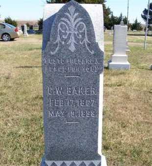 BAKER, C. W. - Frontier County, Nebraska | C. W. BAKER - Nebraska Gravestone Photos