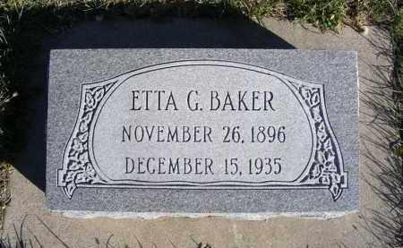 BAKER, ETTA G. - Frontier County, Nebraska | ETTA G. BAKER - Nebraska Gravestone Photos