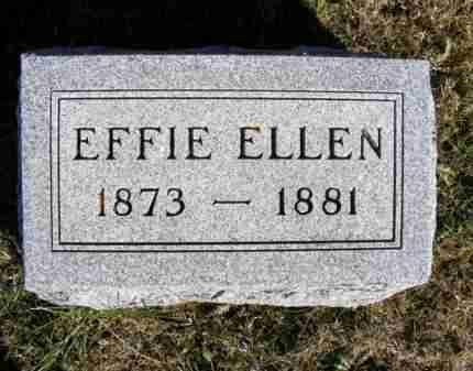BAKER, EFFIE ELLEN - Frontier County, Nebraska   EFFIE ELLEN BAKER - Nebraska Gravestone Photos