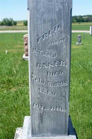 BAKER, FRED - Frontier County, Nebraska   FRED BAKER - Nebraska Gravestone Photos