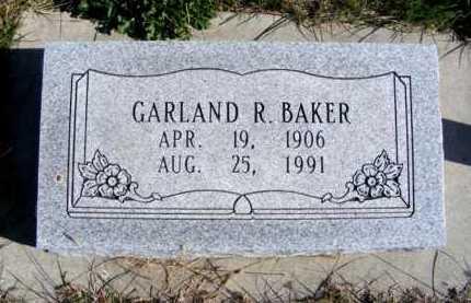 BAKER, GARLAND R. - Frontier County, Nebraska   GARLAND R. BAKER - Nebraska Gravestone Photos
