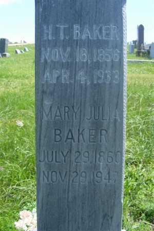 BAKER, MARY JULIA - Frontier County, Nebraska | MARY JULIA BAKER - Nebraska Gravestone Photos