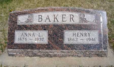 BAKER, ANNA L. - Frontier County, Nebraska | ANNA L. BAKER - Nebraska Gravestone Photos