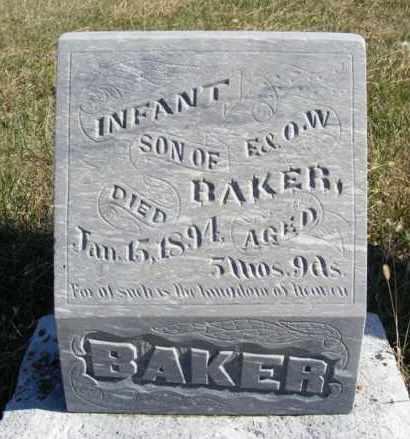 BAKER, INFANT SON - Frontier County, Nebraska | INFANT SON BAKER - Nebraska Gravestone Photos