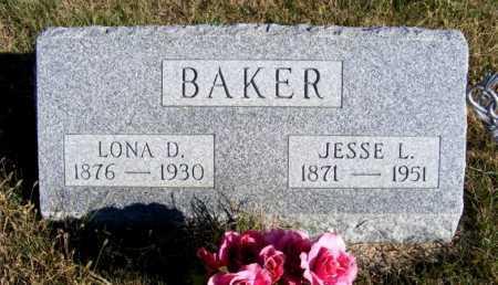 BAKER, LONA D. - Frontier County, Nebraska | LONA D. BAKER - Nebraska Gravestone Photos