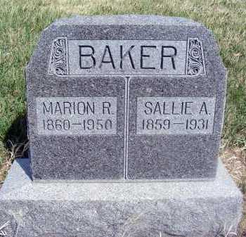BAKER, SALLIE A. - Frontier County, Nebraska   SALLIE A. BAKER - Nebraska Gravestone Photos