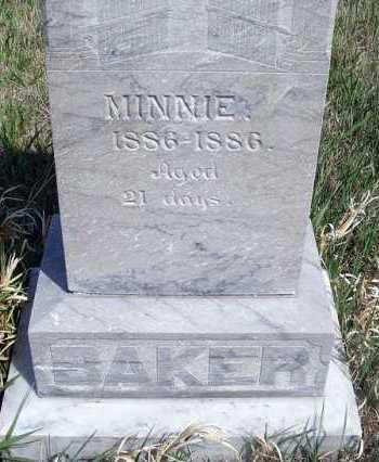 BAKER, MINNIE - Frontier County, Nebraska | MINNIE BAKER - Nebraska Gravestone Photos