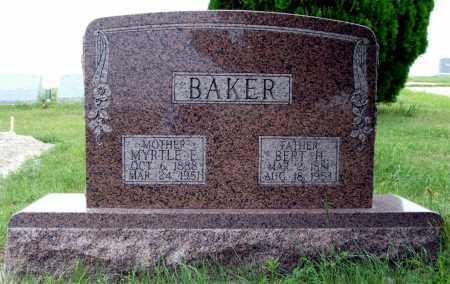 BAKER, MYRTLE E. - Frontier County, Nebraska | MYRTLE E. BAKER - Nebraska Gravestone Photos
