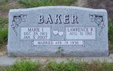 BAKER, MARIE I. - Frontier County, Nebraska | MARIE I. BAKER - Nebraska Gravestone Photos