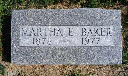 BAKER, MARTHA E. - Frontier County, Nebraska | MARTHA E. BAKER - Nebraska Gravestone Photos