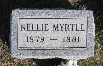 BAKER, NELLIE MYRTLE - Frontier County, Nebraska | NELLIE MYRTLE BAKER - Nebraska Gravestone Photos