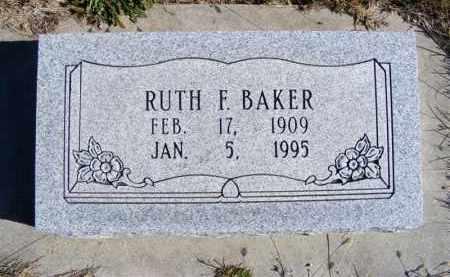 BAKER, RUTH F. - Frontier County, Nebraska | RUTH F. BAKER - Nebraska Gravestone Photos