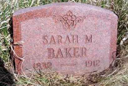 BAKER, SARAH M. - Frontier County, Nebraska | SARAH M. BAKER - Nebraska Gravestone Photos