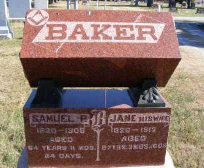 BAKER, JANE - Frontier County, Nebraska   JANE BAKER - Nebraska Gravestone Photos
