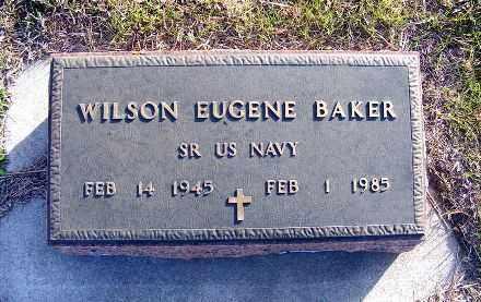 BAKER, WILSON EUGENE - Frontier County, Nebraska | WILSON EUGENE BAKER - Nebraska Gravestone Photos