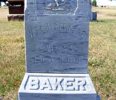BAKER, WILLIAM B. - Frontier County, Nebraska | WILLIAM B. BAKER - Nebraska Gravestone Photos