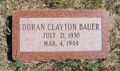 BAUER, DORAN CLAYTON - Frontier County, Nebraska | DORAN CLAYTON BAUER - Nebraska Gravestone Photos